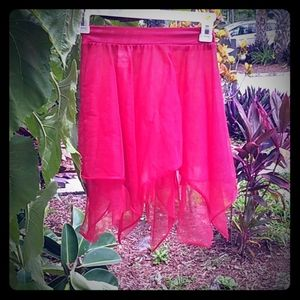 "Dresses & Skirts - Red flowy ballerina style ""tutu""skirt small/medium"